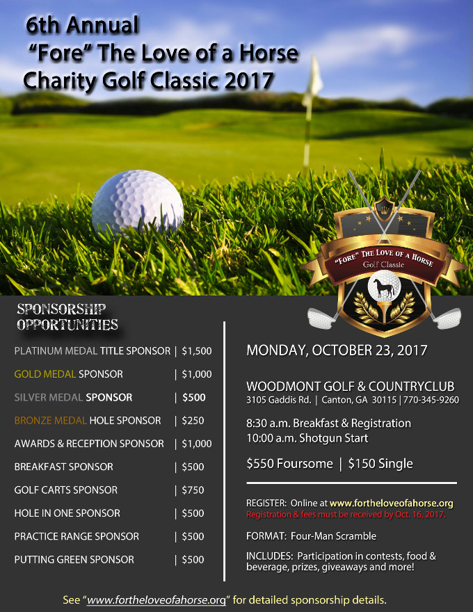 Golf Classic Flyer with Sponsorship 2017